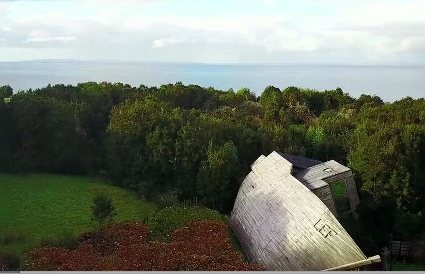 The World's Most Oddly Shaped Hotels: Espejo de Luna, Chiloé Island, Chile