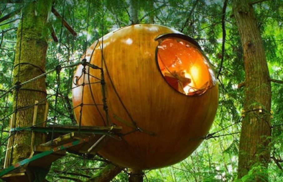 The World's Most Oddly Shaped Hotels: Free Spirit Spheres, Vancouver Island, Canada