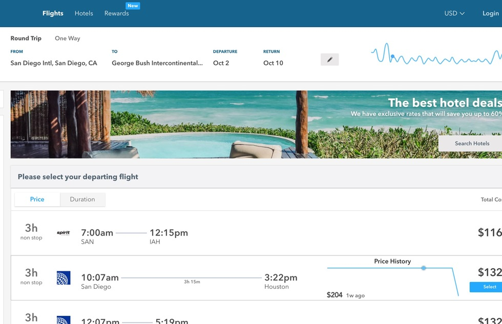 The Top 10 airfare search sites: 1: Skiplagged