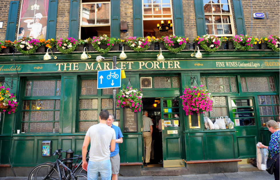 The Market Porter Pub in London, England.