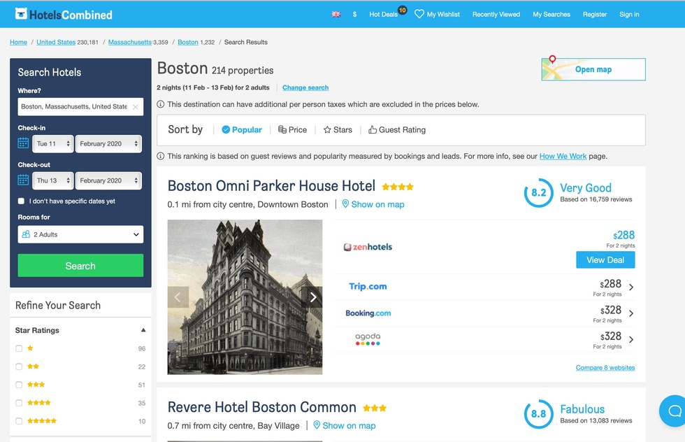 Best Hotel Reservation Websites: 1: HotelsCombined.com