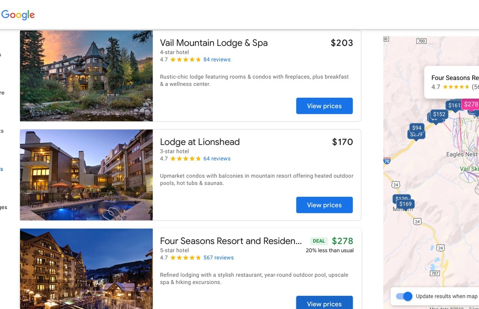 Best Hotel Reservation Websites: 5: Google