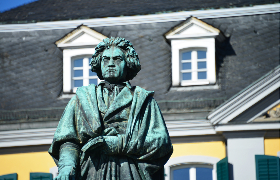 Beethoven statue in Bonn, Germany