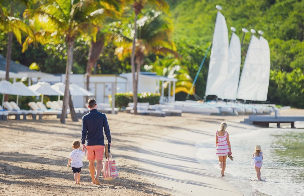 On Antigua, Carlisle Bay is a moderately sized but low-key luxury resort for families