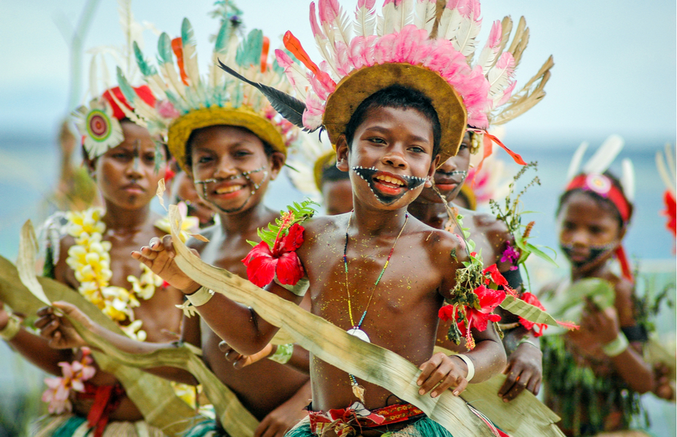 Traditional dress in Papua New Guinea