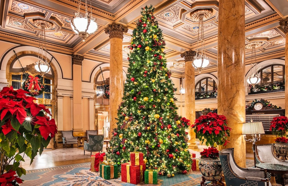 Christmas tree at the Willard InterContinental in Washington, D.C.
