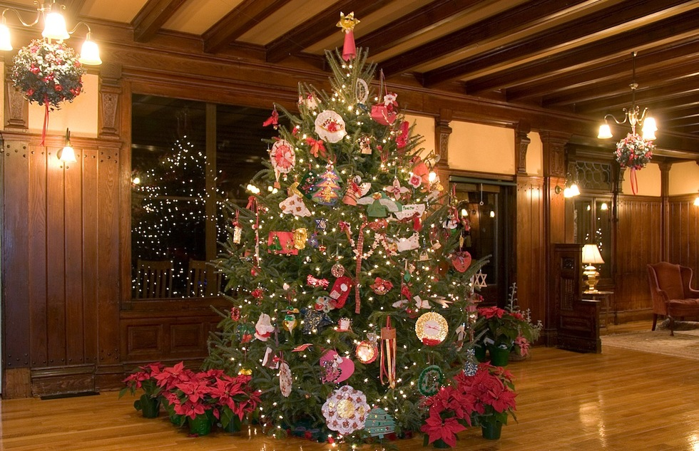 Christmas tree at Mohonk Mountain House in New Paltz, New York