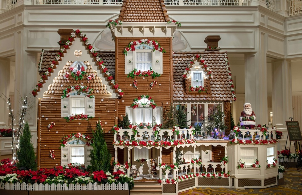 Gingerbread house at Disney's Grand Floridian Resort at Walt Disney World in Florida