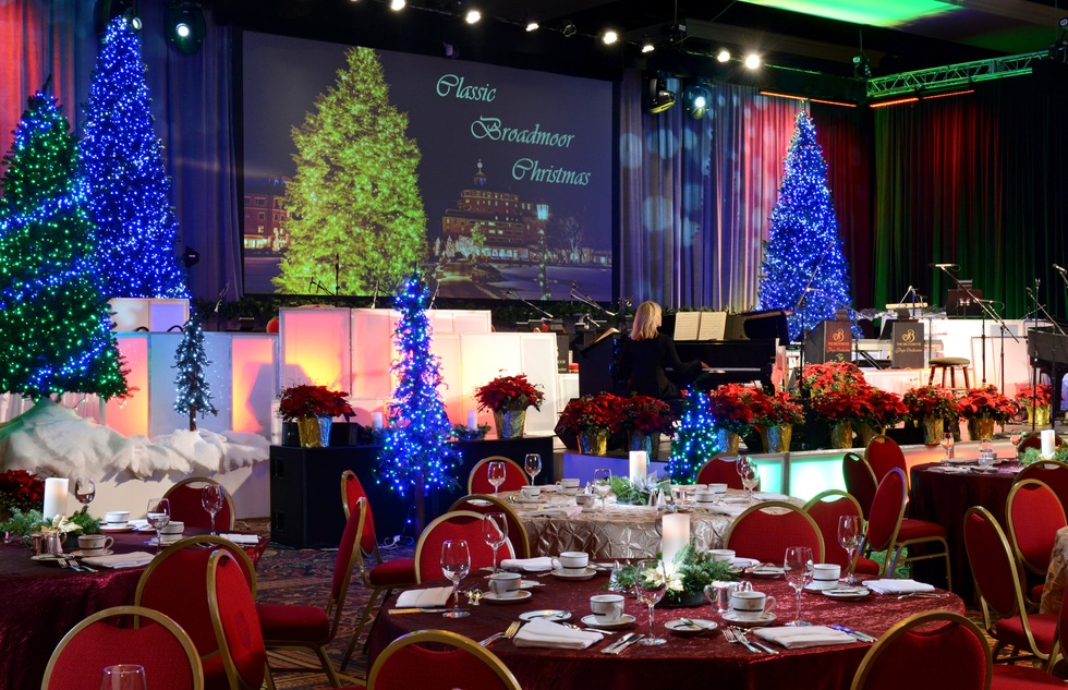 Holiday dinner theater at the Broadmoor in Colorado Springs, Colorado