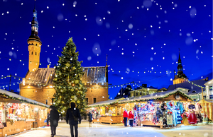 Holiday market in Tallinn, Estonia