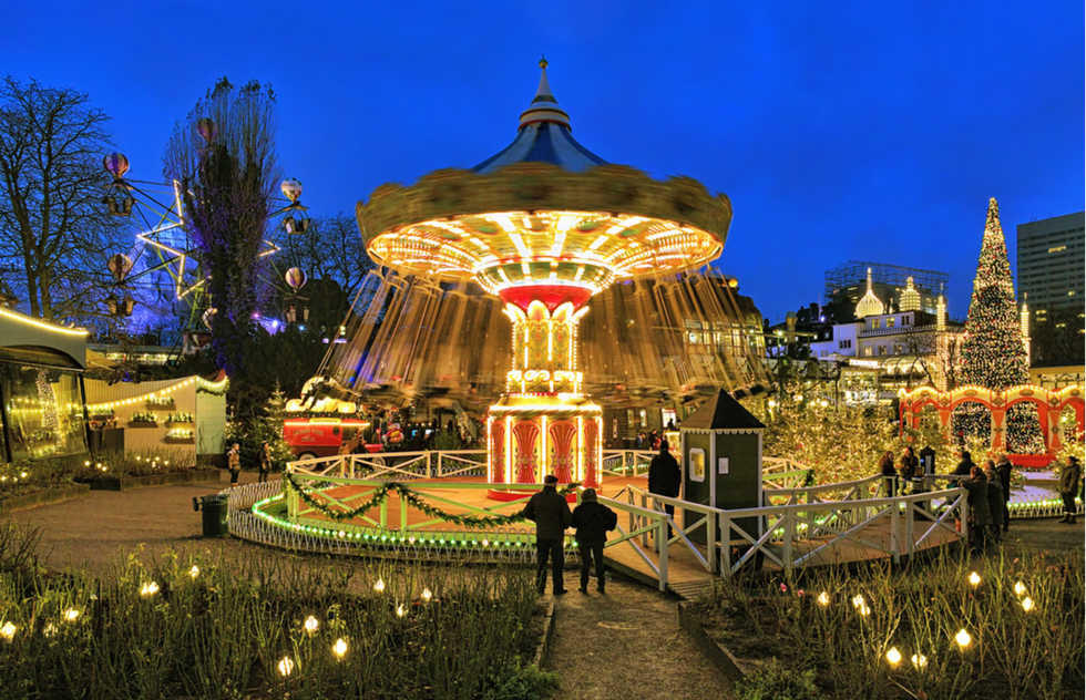 Carousel at Tivoli Gardens in Copenhagen