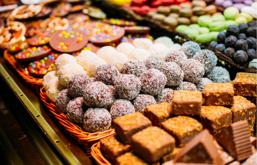Sweets at Barcelona's Christmas fair