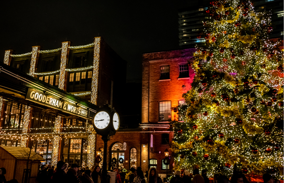 Toronto Christmas Market in the city's Distillery District