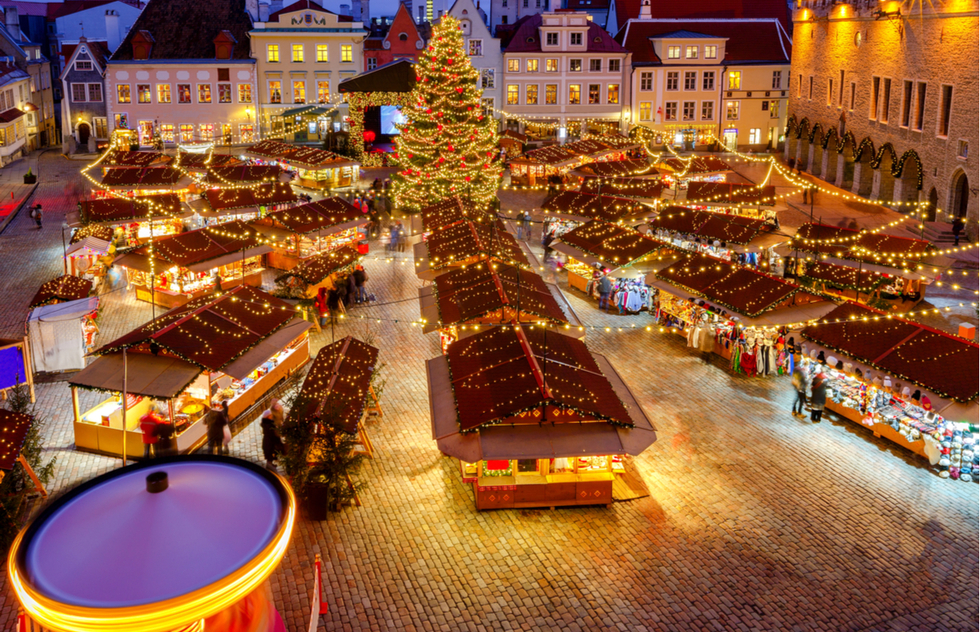 Christmas market in Tallinn, Estonia