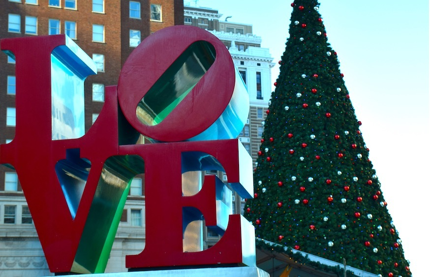 Philadelphia's Christmas Village in Love Park