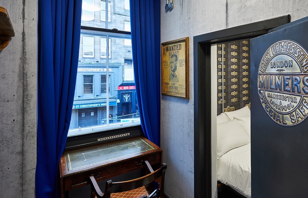 Into the Vault: Walk-In Safe Converted to Hostel Room in Edinburgh | Frommer's