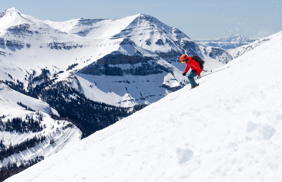 Skiing at Big Sky Resort in Montana