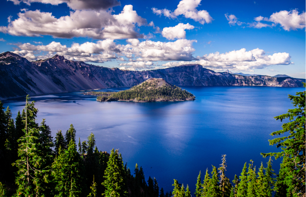 Best U.S. national parks for bicycling: Crater Lake National Park in Oregon
