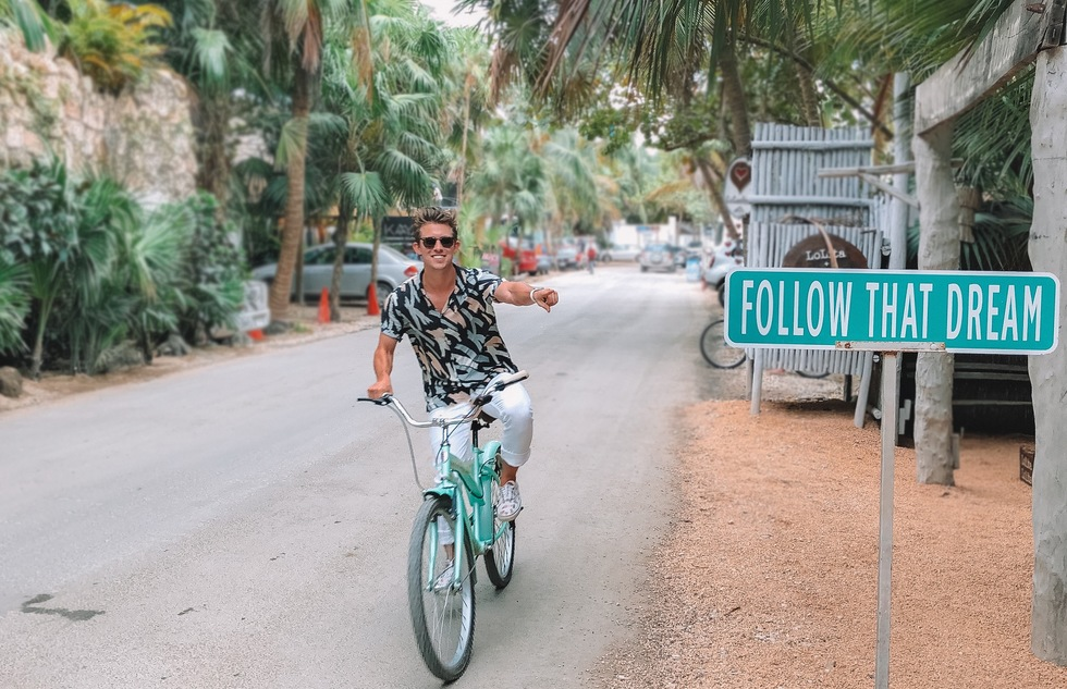 Bicycling in Tulum, Mexico