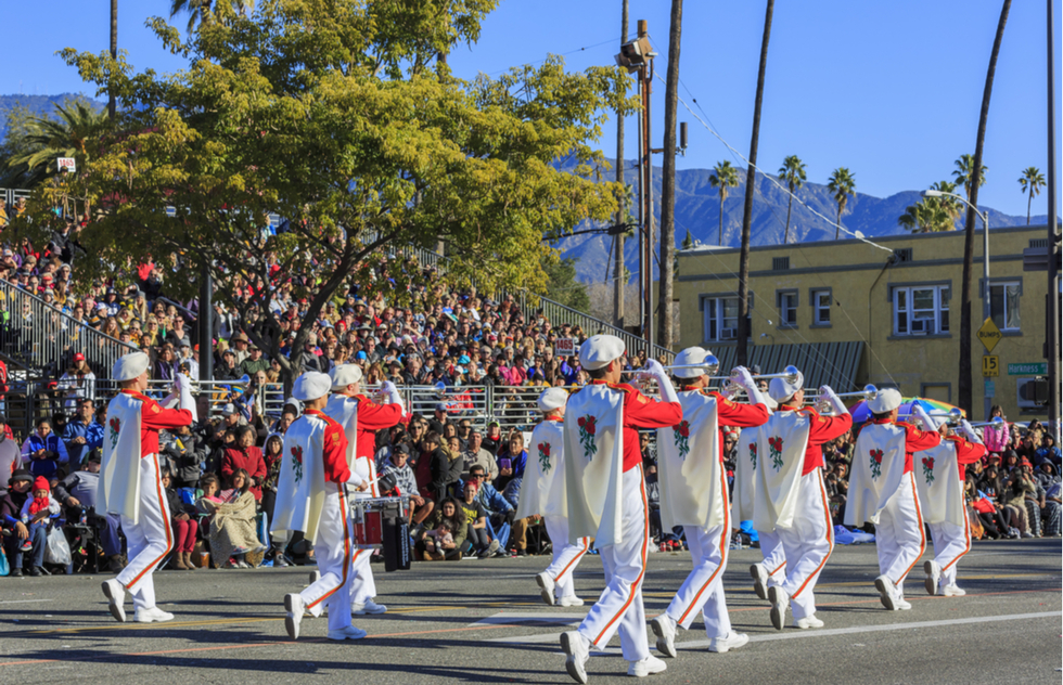 Rose Parade in Pasadena, California