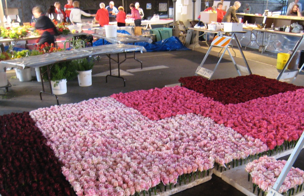 How to help build a Rose Parade float
