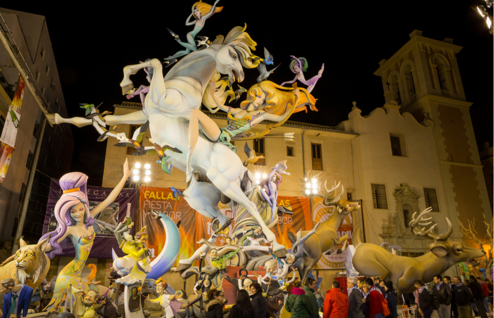 Fallas festival in Valencia, Spain