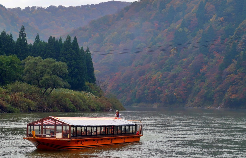 Mogami River cruise in Yamagata Prefecture, Japan