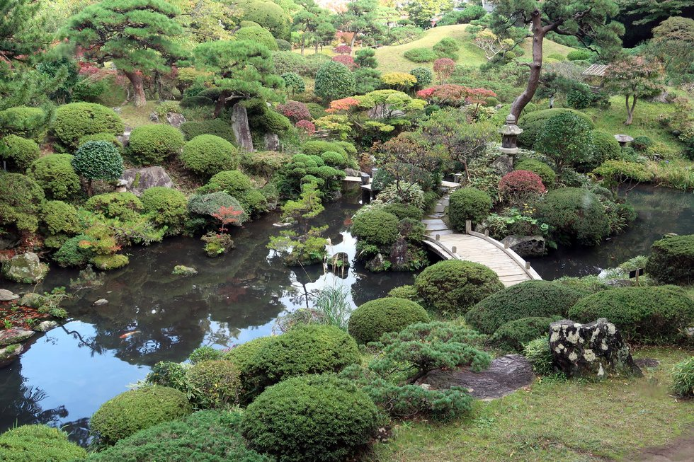 Garden at the Homma estate in Sakata, Japan