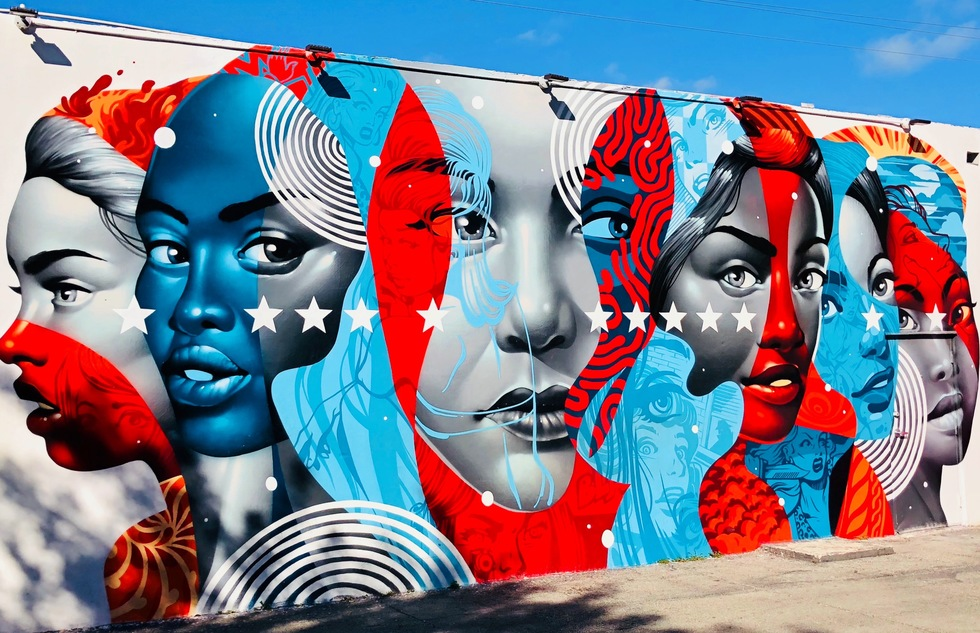 Mural at Wynwood Walls in Miami