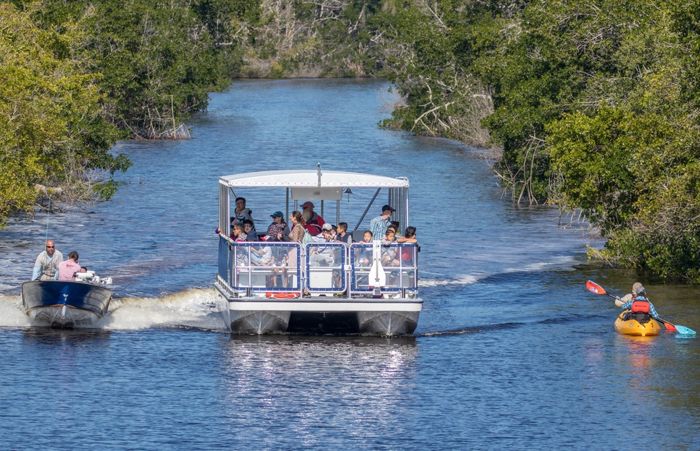 Boating in Everglades National Park in South Florida