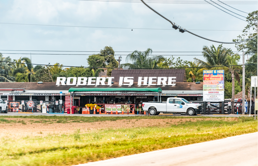 Robert Is Here fruit stand in Homestead, Florida