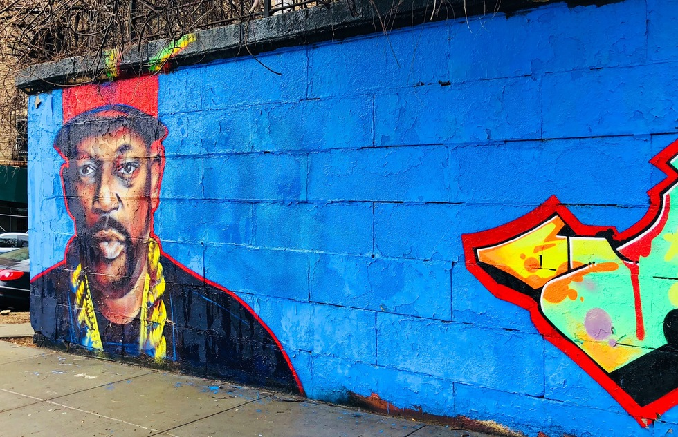 Street mural in the South Bronx of New York City