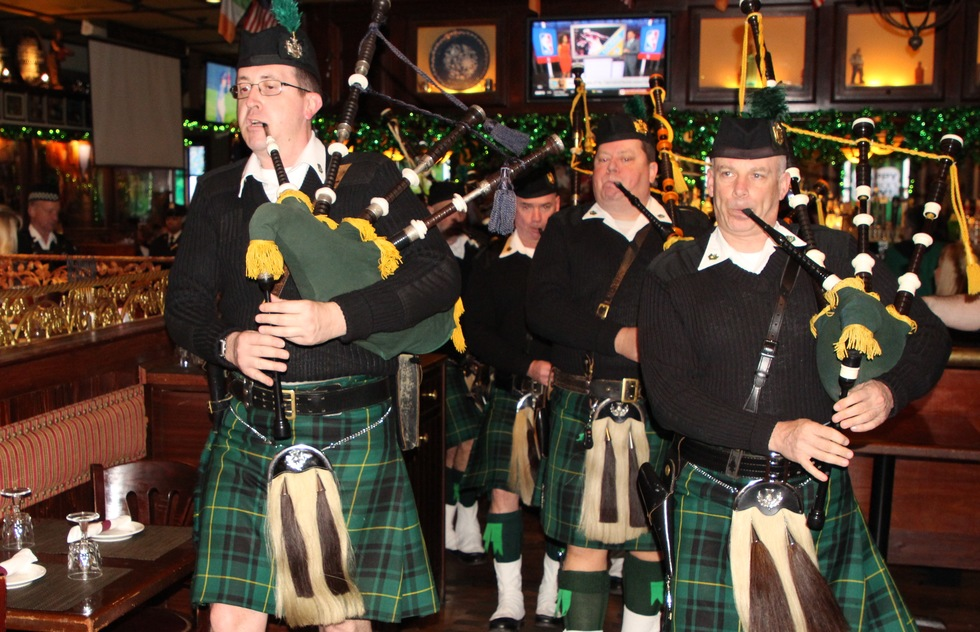 Bagpipers at the Rambling House Pub in the Bronx, New York City