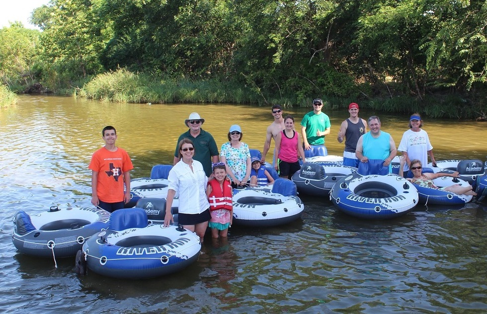 Tubing on the San Gabriel River at Scurlock Farms in Texas Hill Country