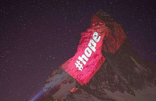 Matterhorn and Eiffel Tower Lit with Messages of Hope and Gratitude | Frommer's