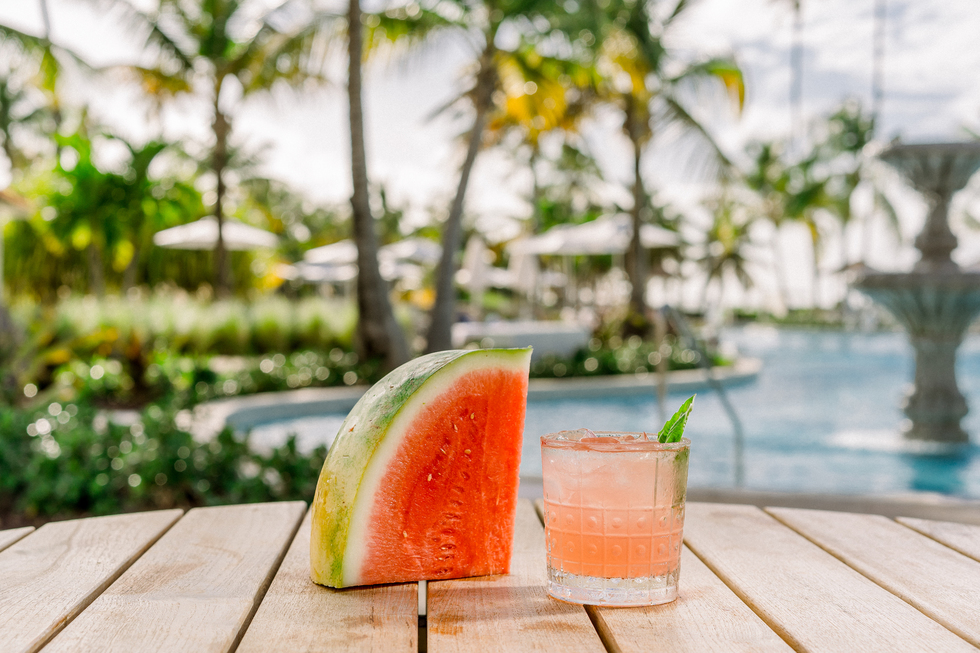 Great cocktail recipes from great hotel bars: Watermelon Basic Cooler, Hyatt Regency Grand Reserve Puerto Rico, Puerto Rico