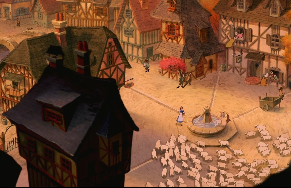 Go around the world with Disney animated movies: Beauty and the Beast (France)