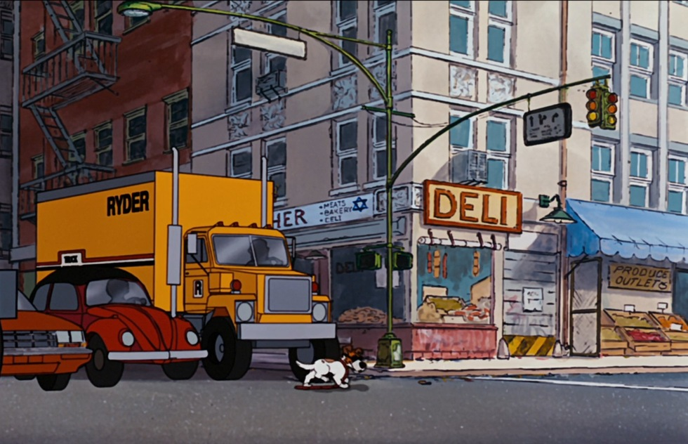 Go around the world with Disney animated movies: Oliver & Company (New York City)