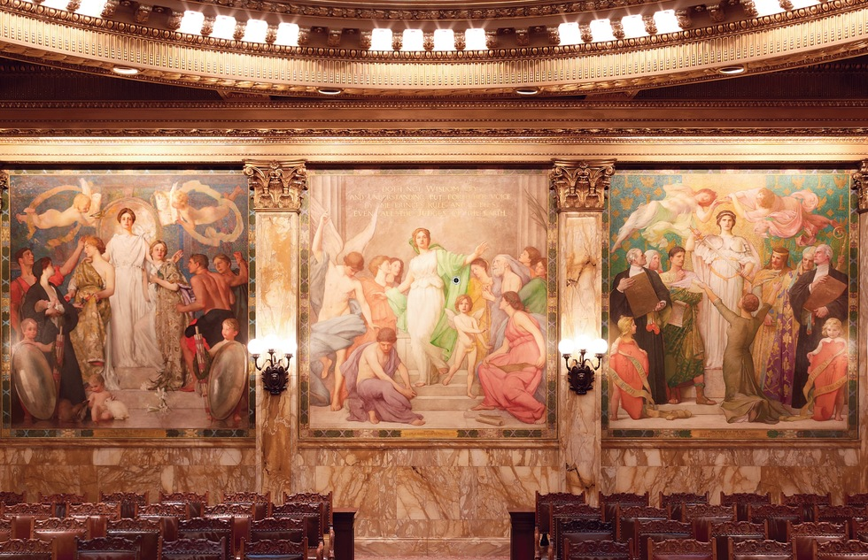 Murals of New York: The Best of New York's Public Paintings from Bemelmans to Parrish (Rizzoli): New York State Supreme Court, Appellate Division