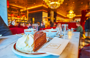 Cafe at Hotel Sacher in Vienna