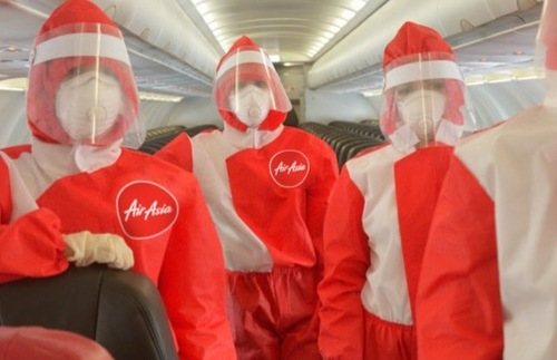 Look at the PPE Suits AirAsia Is Testing for Flight Attendants | Frommer's