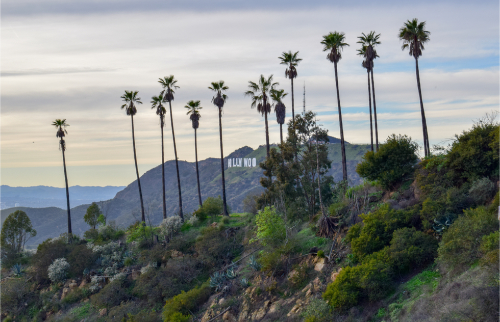 Great Hollywood Sign views: Tiffany and Co. Foundation Overlook
