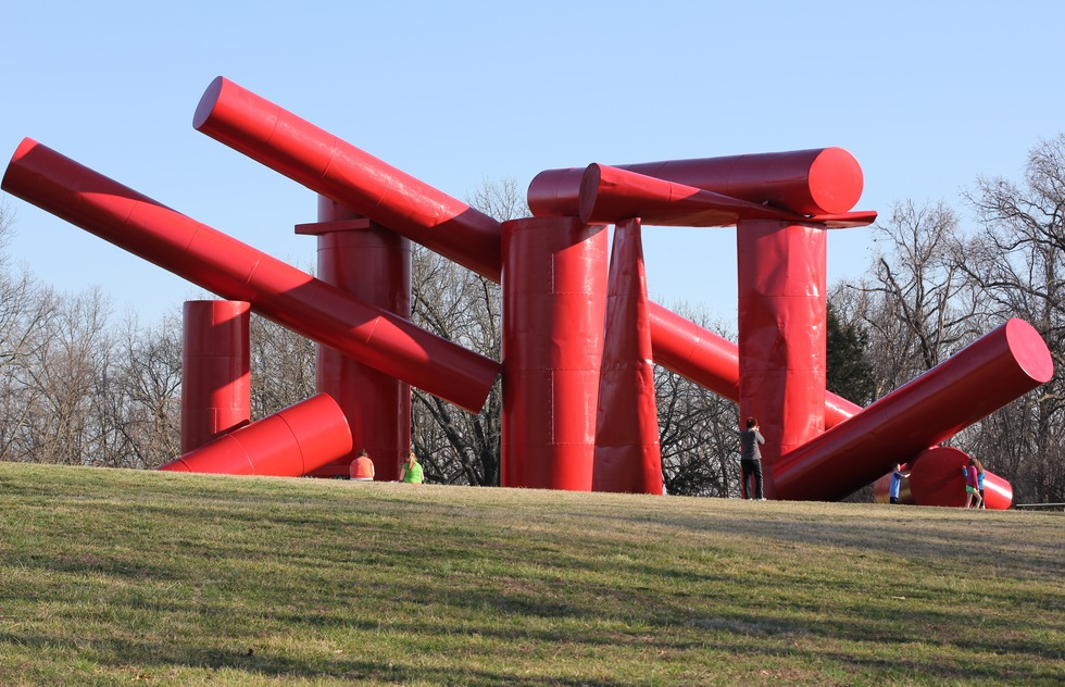 """The Way"" by Alexander Liberman at Laumeier Sculpture Park outside of St. Louis"