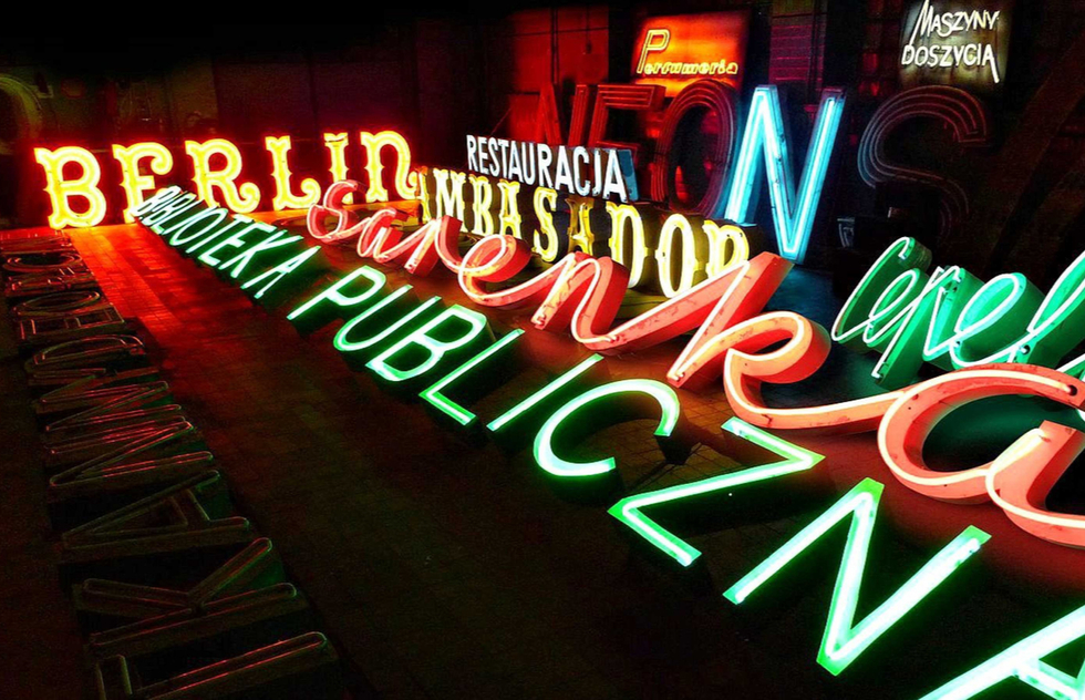 Lit-up signs at the Neon Museum in Las Vegas