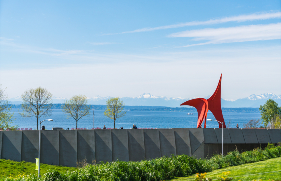 Seattle's Olympic Sculpture Park seen from afar