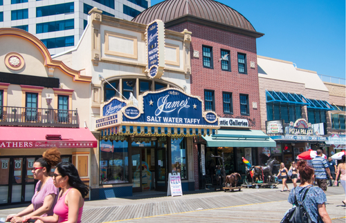 James Candy Company store on the Atlantic City Boardwalk