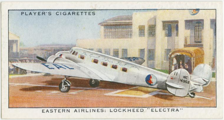 "Air Liners of the 1930s on trading cards: Eastern Airlines: Lockheed ""Electra"""