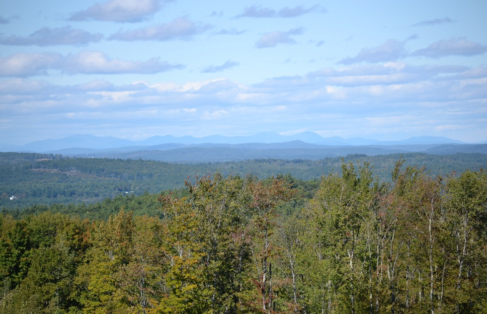 The view from Gould Hill Farm in New Hampshire.