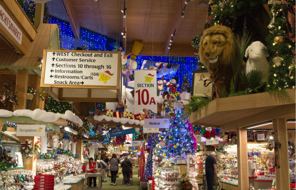 America's best roadside attractions: Bronner's Christmas Wonderland in Frankenmuth, Michigan