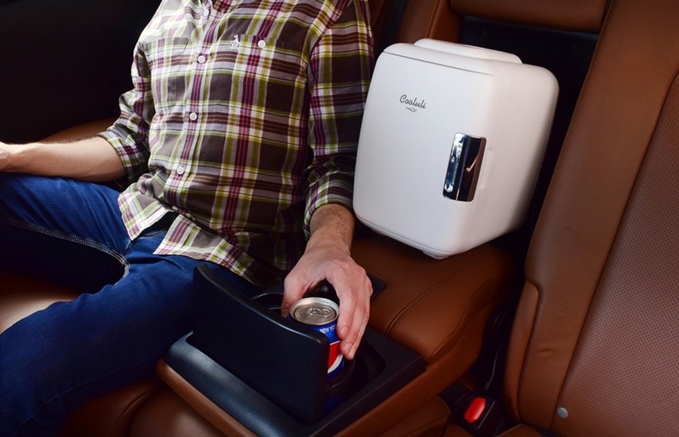 Great travel product inventions for public transportation, road trips, driving, and sleeping well: Cooluli Mini Fridge Electric Cooler and Warmer